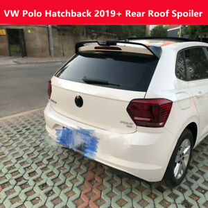Fit Volkswagen Polo Hatchback 2019 Gloss Black Trunk Spoiler Rear Roof Wing