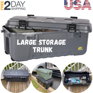Pickup Truck Bed Storage Tool Box Large Chest Garage Trailer Trunk 108 Quarts