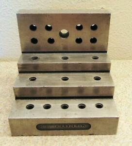 Threaded Stepped Machinist Right Angle Block 4 1 8 X 4 X 4 3 16