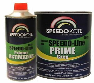 High Build 2k Urethane Primer Gray Gallon Kit Fast Dry Smr 210 211 Automotive