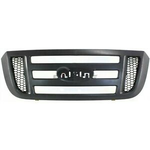New Grille Textured Dark Gray Shell Fits Ford Ranger 2006 2011 Fo1200474
