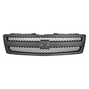 New Grille Matte Black With Textured Black Fits Chevrolet Silverado 1500 2007 13