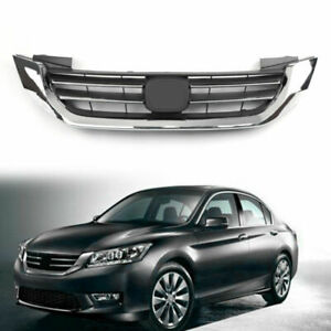 New Front Bumper Radiator Upper Chrome Grill For Honda Accord 2013 2014 2015 Us