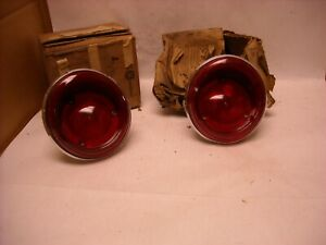 Mopar Nos 1963 Dodge Dart Rear Tail Lamp Light Assemblies Set 2421182
