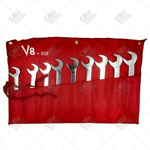 V8 Tools 819 9 Piece Metric Jumbo Angle Head Wrench Set