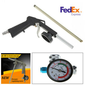 Gray Car Chassis Armor Jet Rifle Spray Gun Varnish Air Pipe With Regulator Gauge