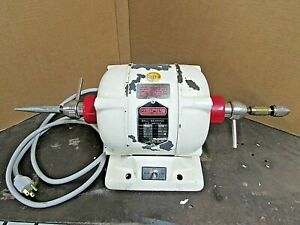 Red Wing Handler 26a Ball Bearing Dental Motor 2 Speed 1 4hp With Chuck Arbor