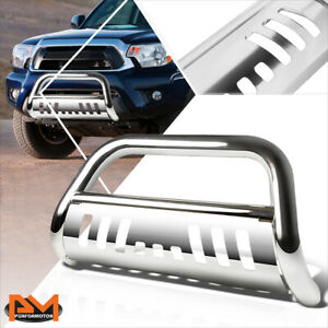 For 05 15 Tacoma Truck Pickup 3 Tube Bull Bar Front Bumper Grille Guard Chrome