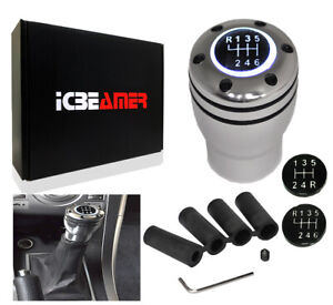 Jdm Aluminum Shift Knob With White Led Sport Racing Manual Threaded Shifter V274