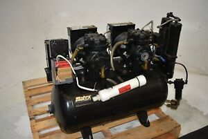 Matrx Amd 100 2 Dental Air Compressor Oiled Unit Quiet 220v 2 Hp