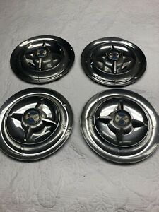 55 56 Dodge Lancer Spinner Hub Caps 15 Set Of 4 Wheel Covers Hubcaps 1955 1956