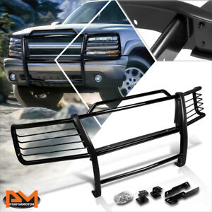 For 00 06 Chevy Suburban tahoe Front Bumper Brush Grill Guard Protector Black