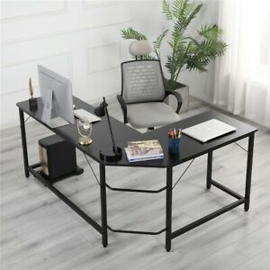 L shaped Desk Corner Computer Gaming Laptop Table Workstation Home Office Desk