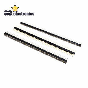 Pin Header Socket 40pin 2 54mm Straight Single double Row Round Male female A3us