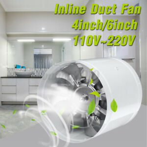 110v 4 6 Duct Booster Inline Blower Fan Blower Exhaust Ducting Air Cooling