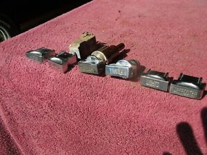 1947 48 Buick Set 6 Chrome Dash Knobs With Map And Instrument Light Switches