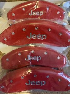 Brand New 05 10 Jeep Grand Cherokee Mgp Caliper Covers Red Engraved Front Rear