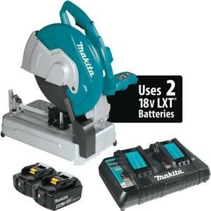 Makita Xwl01pt 18v X2 Lxt Lithium ion 36v Brushless Cordless 14 in Cut off Saw