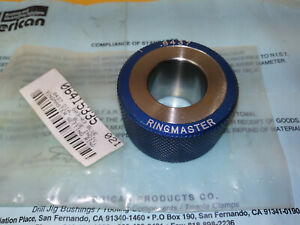New 8437 Ringmaster Master Set Ring Smooth Plain Bore Ring Gage Set Ring
