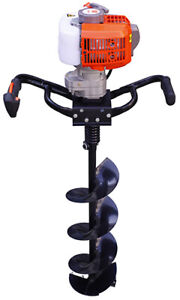 New 3hp Kasei 63cc Earth Auger Single Man Gas With 8 Bits Extension