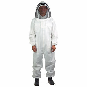 Vivo Small Professional Cotton Full Body Beekeeping Suit With Veil Hood