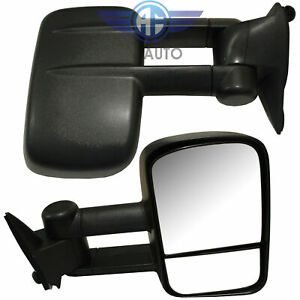 Pair Manual Side View Towing Mirrors Left Right Set For 88 98 Chevy Gmc Truck