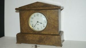 Beautiful Antique Seth Thomas Usa Wind Up Pendulum Mantel Shelf Clock