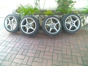 Ford Mustang Cobra Set Of 5 18 In Chrome Curb Scratches With Tire No Shiping