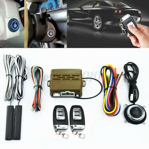 9x Car Alarm System Keyless Entry Engine Start Push Button Remote Starter System
