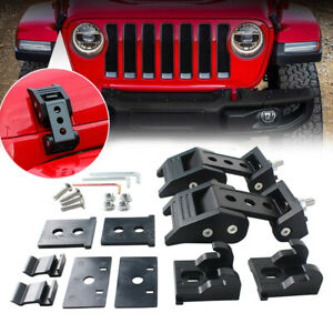 For Jeep Wrangler Jk 07 Up Unlimited Parts Black Hood Latch Locking Catch Buckle