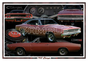 1968 Dodge Charger Poster Print