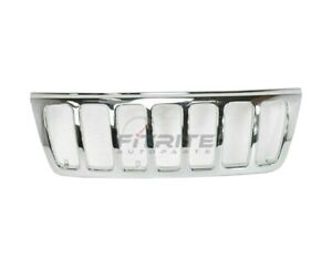 New Front Grille Chrome Fits Jeep Grand Cherokee 1999 2003 Ch1200221 55155921ab