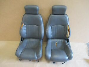 97 Firebird Formula Trans Am Med Gray Leather Core Front Seat Seats 0602 1