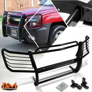 For 02 06 Chevy Avalanche W Cladding Bumper Brush Grill Guard Protector Black