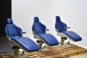 Dome C 9 Lot Of 3 Dental Exam Chairs Operatory Patient Caregiving Furniture