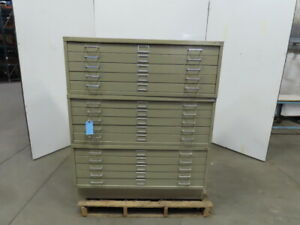 Safco Flat File Blueprint Plans Map Filing Cabinet 15 Drawer 46 1 4x35 1 2x56