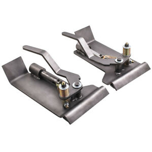 Pair Weld on Skid Steer Quick Attach Conversion Adapter Quick Tach Latch Box