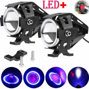 2x Cree U7 Led 125w Motorcycle Drl Headlight Driving Fog Light Spot Lamp switch