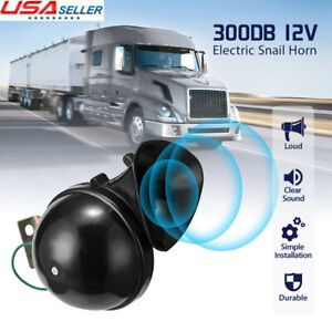 300db 12v Electric Snail Air Horn Loud Sound For Car Motorcycle Truck Boat Rv