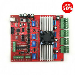 Mach3 Usb 4 Axis Breakout Board 100khz Cnc Interface Driver Motion Controller