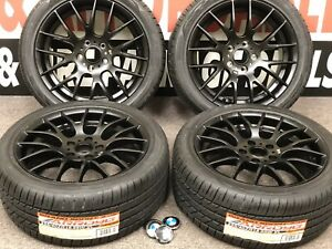 18x8 5 Wheels Rims Tires Fit Bmw 3 4 5 6 7 M5 Sport M Performance Satin Black
