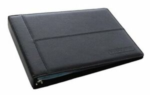 Leather 7 Ring Business Check Binder For 3 On A Page Checks By Leather black