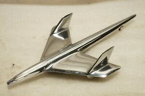 1955 Belair Nomad Jet Bird Hood Ornament 3709685 Very Nice Oem r6