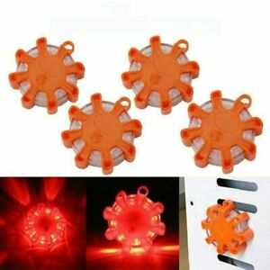 4pc Magnetic Road Led Emergency Beacon Roadside Sos Flare Safety Strobe Lights