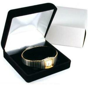 Black Bracelet Watch Anklet Gift Box Jewelry Display