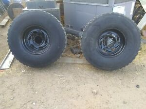 Weld Racing Aluminum 16 5 10 Wheels With Tires Hmmwv Military 37 Painted Black