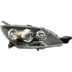 New Right Halogen Head Light Lens And Housing Fits Mazda 3 2004 2009 Ma2519107