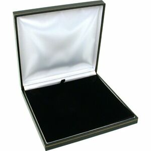 Black Leather Necklace Gift Box Jewelry Display Case 6 1 2