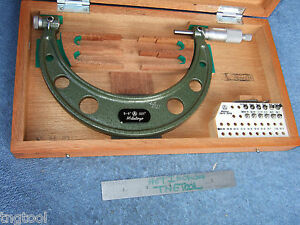 Thread Micrometer 5 6 Mitutoyo 126 142 W anvils Over 1200 When New Toolmaker