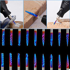 20pcs End Mill Cnc Router Bit 1 8 Shank Rotary Burs Set For Die Grinder